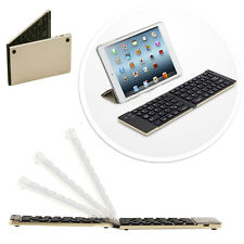 Faltbahre Bluetooth keyboard Tastatur APPLE  iPad Mini Tablet IOS - F66 Gold