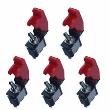 5 X 12V 20A Red Cover Rocker Toggle Switch SPST ON/OFF Car Truck Boat 2 Pin