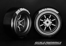 Scale Dynamics  10110  V16D RS Watanabe wheels black(Gun metalic) 12mm Offset