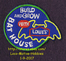 LMH PATCH Badge BAT HOUSE Home Houses Box LOWES Build Grow Kids Clinic Workshop