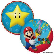 Mario Bross Nintendo Party Supplies BALLOON Mylar Decoration Favor Luigi Treats