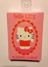 HELLO KITTY NEW SEALED PLAYING CARDS IN BOX SANRIO 2013 OOP RARE FREE SHIPPING