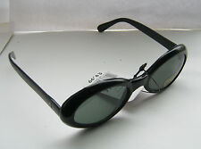 New Retro Original Vintage 1980s  Jackie Style Black DeadStock Sunglasses