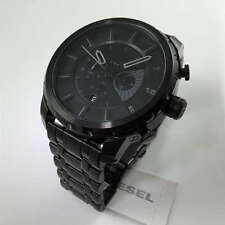BRAND NEW DIESEL DZ4349 STRONGHOLD BLACK STAINLESS STEEL CHRONOGRAPH MEN'S
