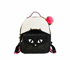 "NWT Betsey Johnson Black ""Kitch Cats Meow Backpack"" SOLD OUT EVERYWHERE !!!"