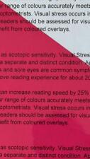 A4 111 Dark Pink Coloured Sheet Overlay Dyslexia Transparent Stress reading