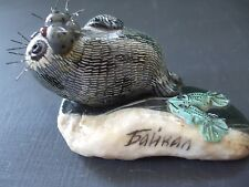 "ADORABLE BAIKAL SEAL FIGURINE 1.75"" T X 3"" L"
