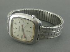 Vtg 1971 ACCUTRON BULOVA STAINLESS 2190 Quartz Watch Wristwatch