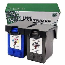 2 Excellent Ink Compatible HP 56 57 Deskjet 9650 9680 5652 3420 3425 3325 3550