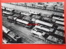 PHOTO  AERIAL VIEW OF DONCASTER SHEDS - LOTS OF STEAM LOCOS