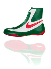 NEW Men's Nike Machomai Mid-Top Boxing Shoes Size: 5.5 Color: Red/White/Green