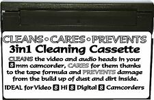 8mm VIDEOCAMERA VIDEO HI Digital 8 DRY HEAD CLEANER CURA PREVENZIONE CASSETTA NASTRO