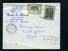 Hotels Of Italia,'Hotel S. Marco,- Roma,cover To Bogota-Colombia. 1975