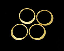 925 Sterling Silver 24K Gold Vermeil Style  4 Circle Links, Connectors .
