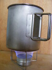 Utralight mini alcohol meths stove and pot stand for MSR titanium cup