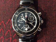 Michele Tahitian Black Ceramic bracelet Watch