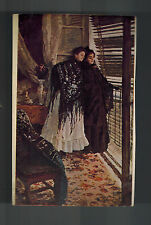 1928 Russia USSR Picture postcard cover two Women Looking Out of Window