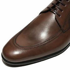 New HUGO BOSS Brown PRADOT Oxford Leather Dress Shoes 9 42 Mens Fashion Casual