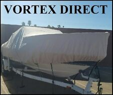 """VORTEX GRAY 21'7"""" TO 22'6"""" CUDDY CABIN BOAT COVER UP TO 102"""" BEAM WITH STRAPS"""
