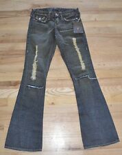 NEW TRUE RELIGION  Women's Jeans Denim size 24 Style 32-503 Joey  15 Destroyed