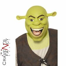 Adult Licensed Shrek Mask Ogre Latex Full Head Fancy Dress Costume Accessory
