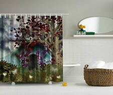 "FAIRY FOREST SECRET HOUSE 70"" Fabric Bathroom Shower Curtain"