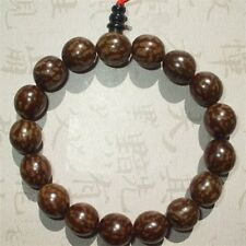Long Tibetan 15 13X12mm Bodhi Root Yoga Meditation Prayer Beads Mala Bracelet 7""