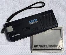 Vintage Keystone XR308 110-Film Pocket Camera w/flash & strap VGC Owners Manual