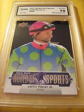 LAFFIT PINCAY JR.  2011 UD WORLD OF SPORTS # 295 GRADED 10 L@@@K