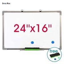 """24""""x16"""" Single Side Magnetic Writing Whiteboard Office School Dry Erase Board"""