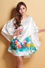 New white floral Robes Pyjama Bat shirt Sleep Night Dress Nightwear for women