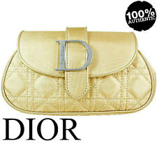 100% AUTHENTIC DIOR COUTURE Jadore BEAUTY MAKEUP TRAVEL Clutch GOLD CASE BAG