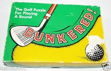 Vintage Bunkered The Golf Puzzle For Playing A Round Wellington 1987 & Solution