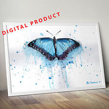 Watercolor Butterfly printable art  (DIGITAL)  poster print