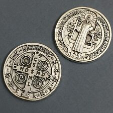 Saint Benedict Benedictine Pocket Token Protector Protect Coin Medal Catholic