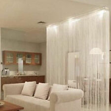 Decor White String Curtains Patio Net Fringe Door Fly Screen Windows Divider