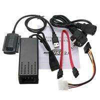 """USB2.0 to 2.5""""/3.5"""" SATA IDE Hard Drive Adapter Cable for HD HDD Adapter W Power"""