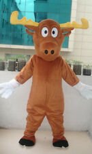 Professional Moose adult Mascot Costume fancy dress For Festival party