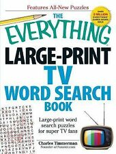The Everything Large-Print TV Word Search Book : Large-Print Word Search...
