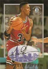 SCOTTIE PIPPEN 1996-97 SB Autographed Strongbox Collection CARD Facs SIGNATURE !
