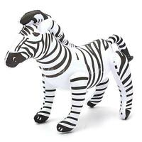 "20"" Giant Inflatable Cute Zebra Blow Up Zoo African Animal Themed Party Toy"