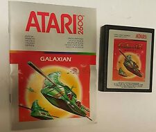 GALAXIAN GAME WITH INTRUCTIONS  FOR ATARI 2600 NTSC USA VERSION