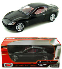 Motor Max 1/18 Scale Maserati Gran Turismo Black Diecast Car Model 79151