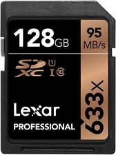 Lexar 633x 128GB SD SDXC Class 10 UHS-I U3 Memory Card Camera 4K 3D Video 95MB/s