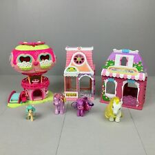 MLP MY LITTLE PONY PLAYSET LOT Pinkie Pie's Balloon House Cafe Salon Ponies