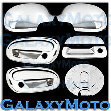 97-03 Ford F150 Chrome Mirror+2 Door Handle+NO Keypad+PSG KH+Tailgate+GAS Cover