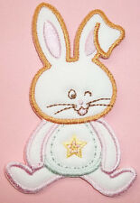 Bunny - Rabbit - Easter - Spring - Baby - Embroidered Iron On Applique Patch