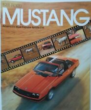 FORD MUSTANG 1981 sales brochure prospekt catalogue