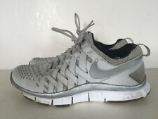 Used Nike Free Trainer 5.0 Platinum Gray Finger Trap Sz 10 579809-001 Running