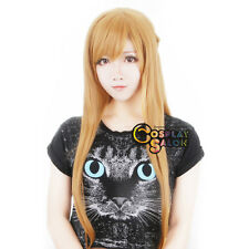 Blonde 80cm Straight Long Sword Art Online Asuna Yuuki Women Anime Cosplay Wig